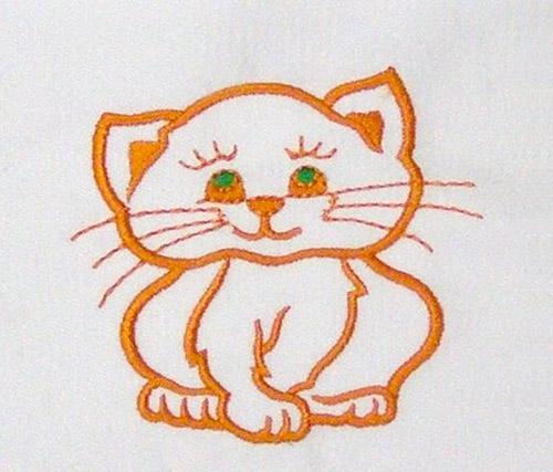 Изображение кошек для вышивки